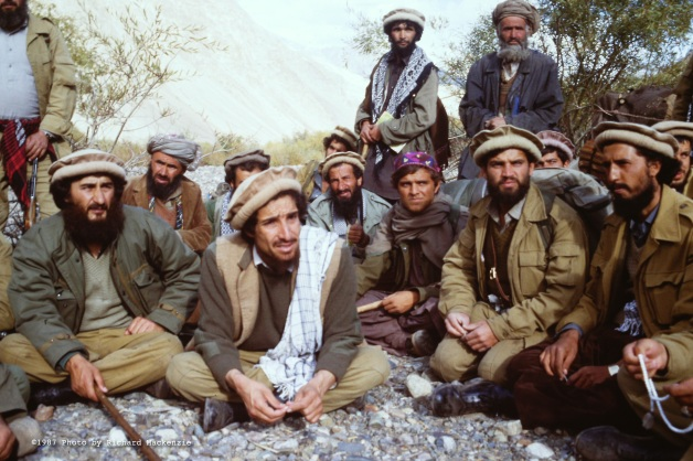 Dr. Husain (at left) and Ahmad Shah Massoud (second from left) had joined up to unify mujahideen in the North, with a goal of stretching far beyond the Panjshir Valley.