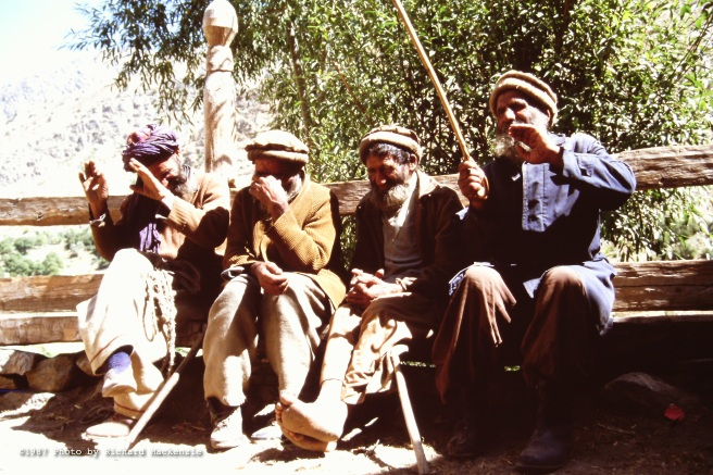 The fathers of a village in Nuristan