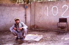The front gate of mujahideen HQ for Jamiat-i-Islami in Peshawar.
