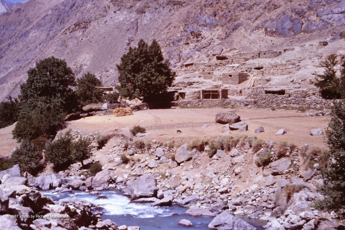 In the far north of the Panjshir Valley, the river begins to roar south.