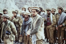Massoud watches carefully over last minute details. With Dr. Abdullah left.