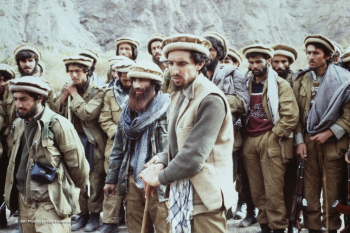 Massoud watches carefully over last minute details. With Dr. Abdullah far left.