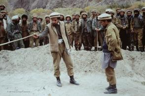 Zabat (right) explaining details of garrison.